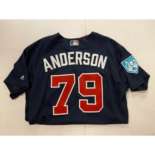 Photo of Ian Anderson 2019 Team Issued Spring Training Jersey