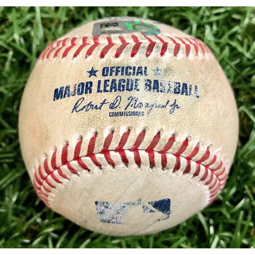 Photo of Game Used Baseball: Manuel Margot single off Ryan Weber - September 10, 2020 v BOS