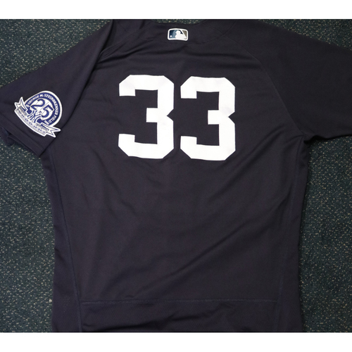 Photo of Team-Issued Spring Training Jersey - J.A. Happ - #33 - Jersey Size - 46