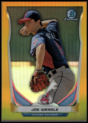 Photo of 2014 Bowman Chrome Prospects Series 2 Gold Refractors #BCP41 Joe Wendle