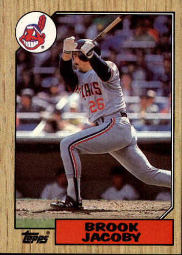Photo of 1987 Topps #405 Brook Jacoby