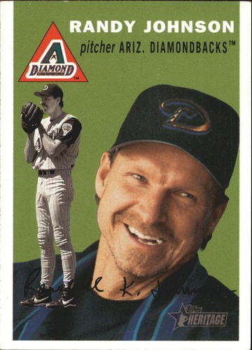 Photo of 2003 Topps Heritage #80A Randy Johnson Green