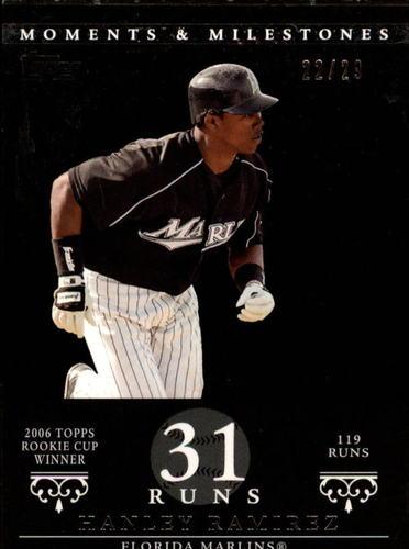 Photo of 2007 Topps Moments and Milestones Black #71-31 Hanley Ramirez/Runs 31