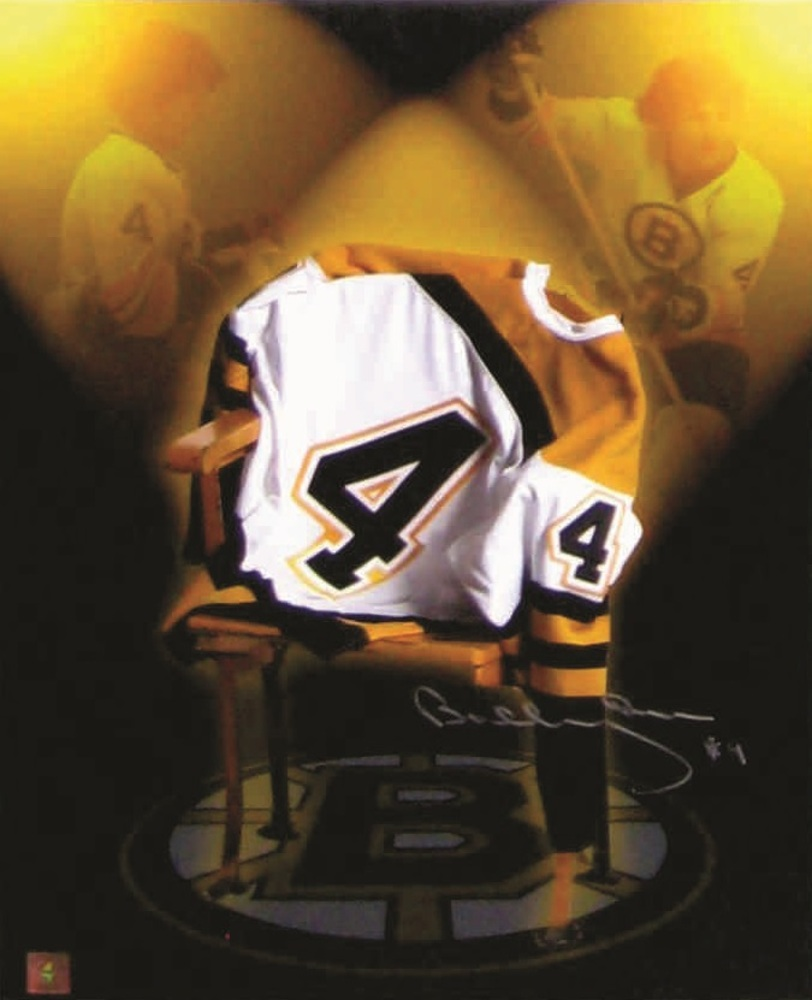 Bobby Orr - Signed 16x20 Bruins Jersey on Chair Tribute