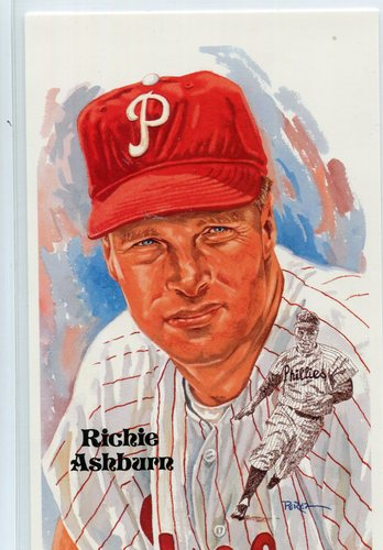 Photo of 1980-02 Perez-Steele Hall of Fame Postcards #220 Richie Ashburn -- HOF Class of 1995