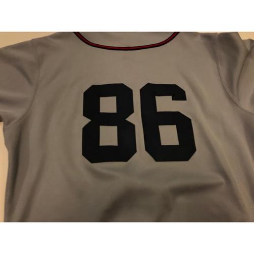 Photo of Game-Used Cleveland Buckeyes Jersey: Mark Budzinski