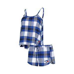 Toronto Blue Jays Women's Headway Flannel Sleep Set by Concepts Sport