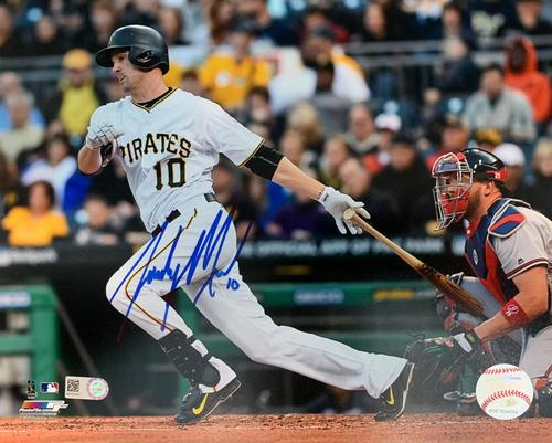 Photo of Jordy Mercer Autographed 8 x 10 Photo - Blue Signature