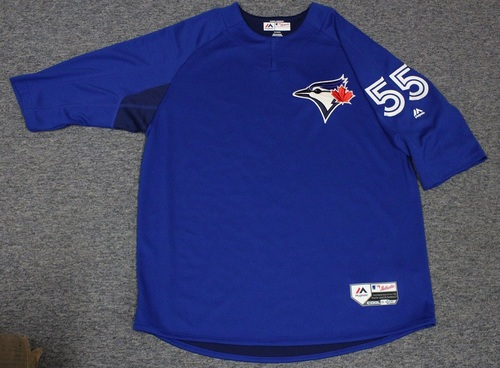 Photo of Authenticated Team Issued Batting Practice Jersey - #55 Russell Martin. Size XL.