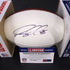 PANTHERS - Greg Olsen Signed White Panel Football