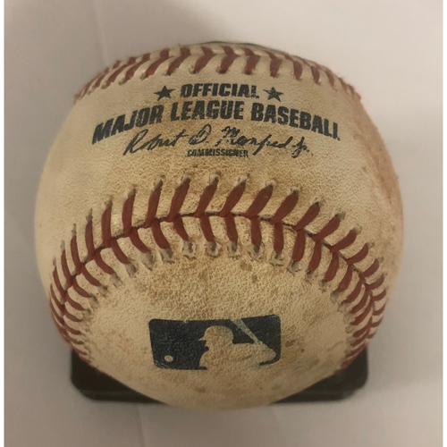 Photo of Charlie Culberson Game-Used RBI Double Baseball - 6/24/18