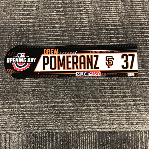 Photo of 2019 Opening Day Game Used Locker Tag - #37 Drew Pomeranz