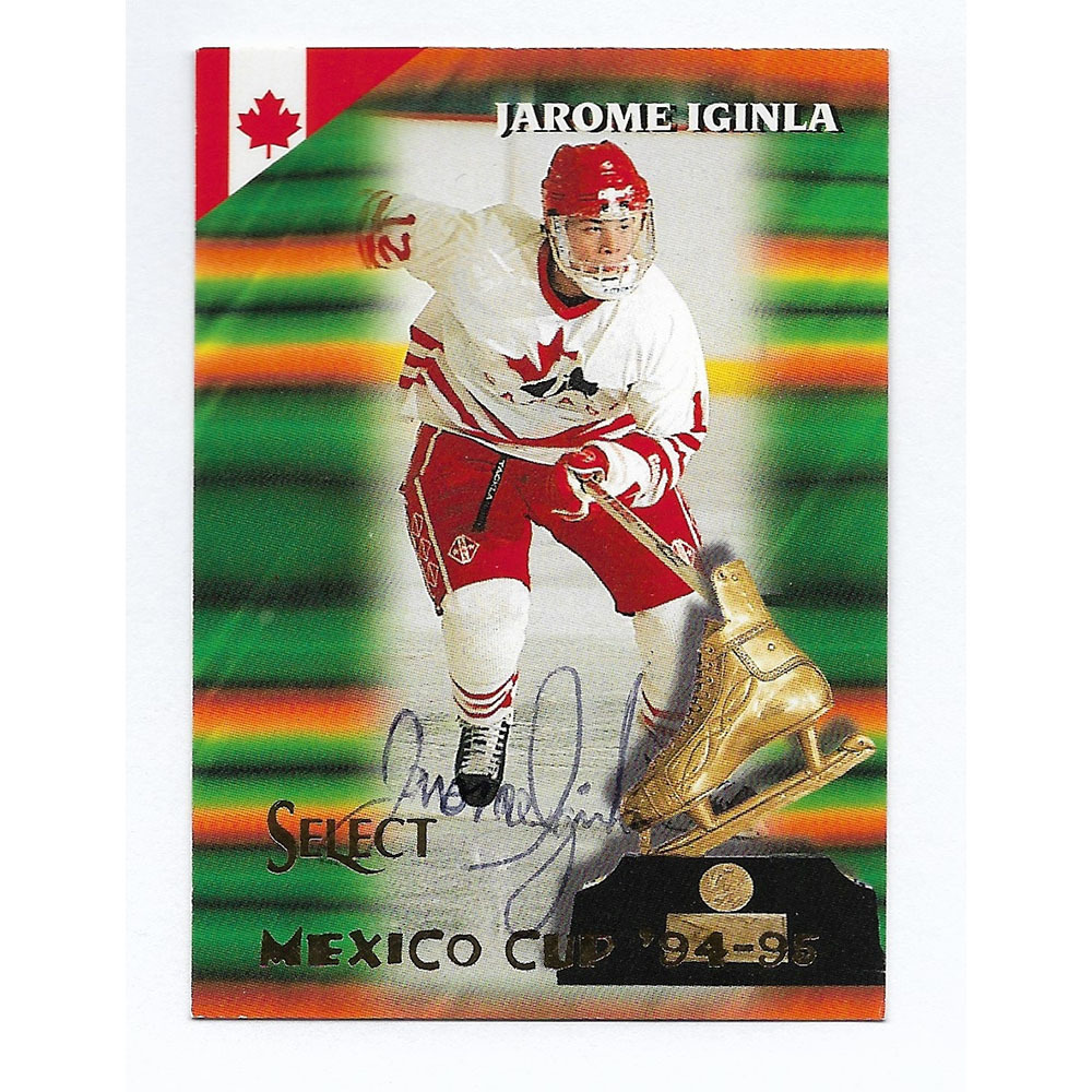 Jarome Iginla Autographed 1995-96 Pinnacle Hockey Card