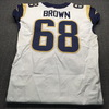 Crucial Catch - Rams Jamon Brown Game Used Jersey  (October 7th,2018) Size 48