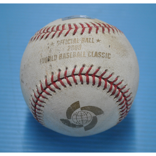 Photo of Game-Used Baseball - 2009 WBC - Round 1 - San Juan - Panama vs. Puerto Rico - 3/7/2009