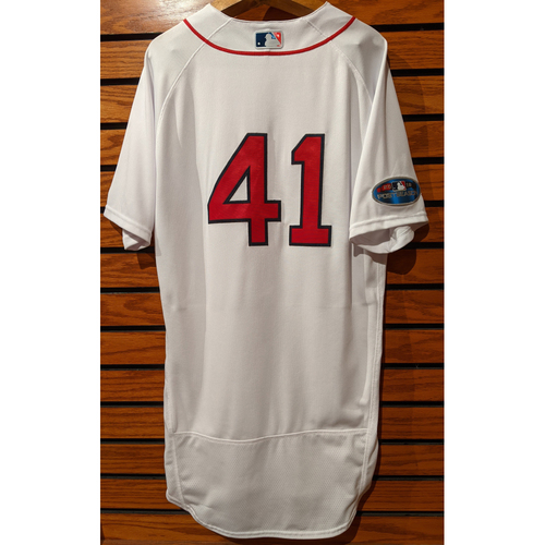 Photo of 2018 Postseason Chris Sale #41 Team Issued Home White Jersey