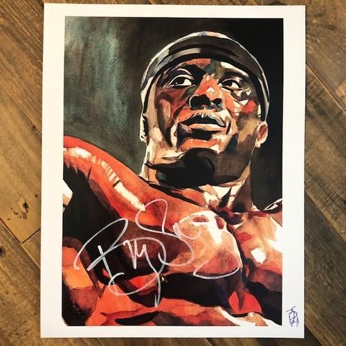 Photo of Bobby Lashley SIGNED Rob Schamberger 11 x 14 Print
