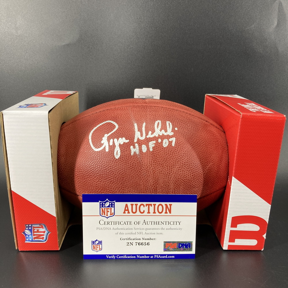 HOF - Cardinals Roger Wehrli Signed Authentic Football with