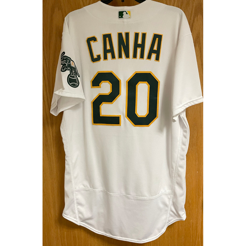 Photo of Game-Used Jersey - Mark Canha (7/24/20 & 9/7/20)