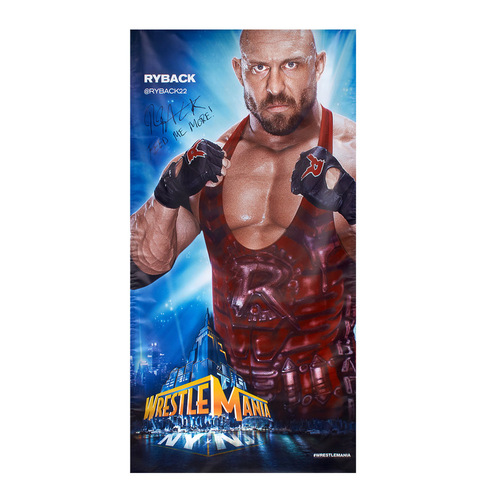 Ryback SIGNED WrestleMania 29 Superstore Wall Art