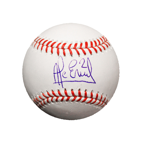 Alcides Escobar Autographed Baseball