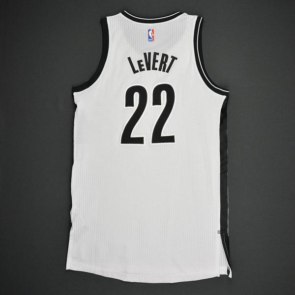 4508d032b Caris LeVert - Brooklyn Nets - Game-Worn Rookie Debut Jersey - 2016 ...