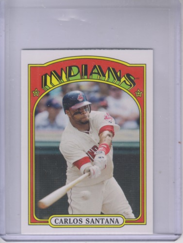 Photo of 2013 Topps 1972 Topps Minis #TM18 Carlos Santana -- Indians post-season