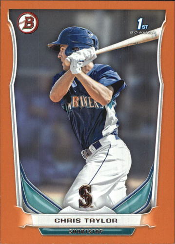 Photo of 2014 Bowman Prospects Orange 116/250 #BP14 Chris Taylor -- Dodgers post-season