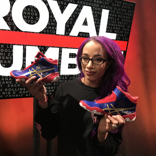 Photo of Sasha Banks WORN & SIGNED Sneakers (Royal Rumble - 01/28/18)