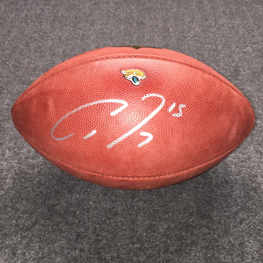 Jaguars - Allen Robinson signed authentic football w/ Jaguars logo