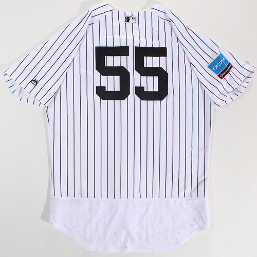 Photo of 2018 Japan Series Game-Used Jersey - Hideki Matsui - Size 48