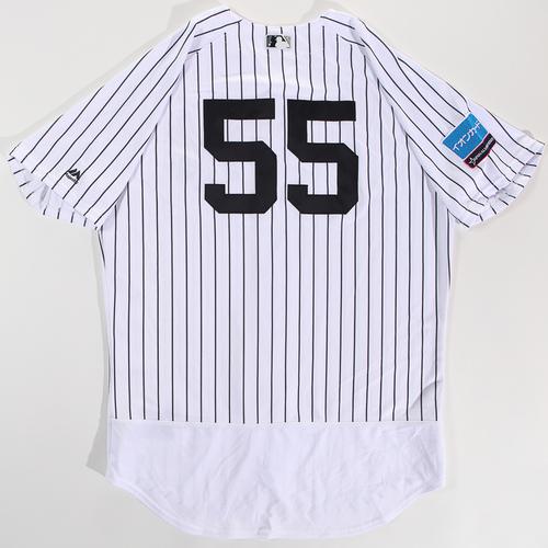 c8855643b Photo of 2018 Japan Series Game-Used Jersey - Hideki Matsui - Size 48