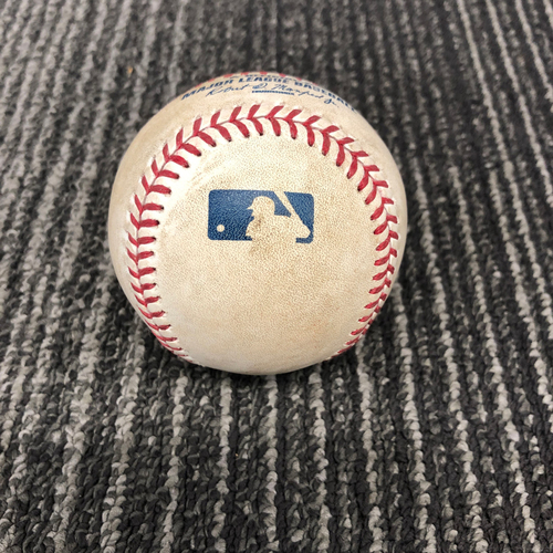 Photo of 2016 Game Used Baseball Used on 9/30/16 vs. Los Angeles Dodgers - T-1: Madison Bumgarner to Yasiel Puig - RBI Double to LF (Corey Seager Scores)