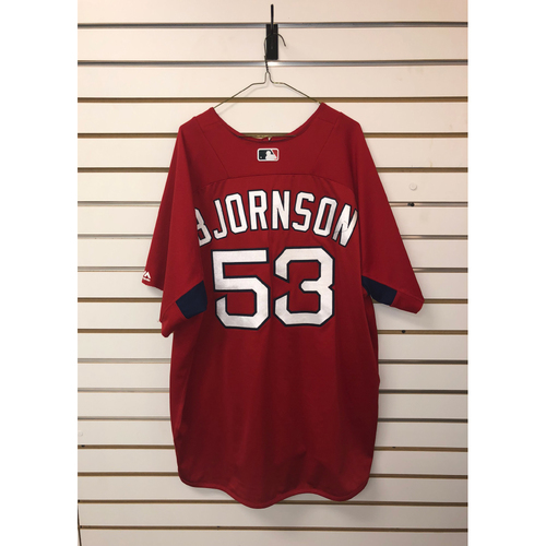 Photo of Craig Bjornson Team-Issued Home Batting Practice Jersey