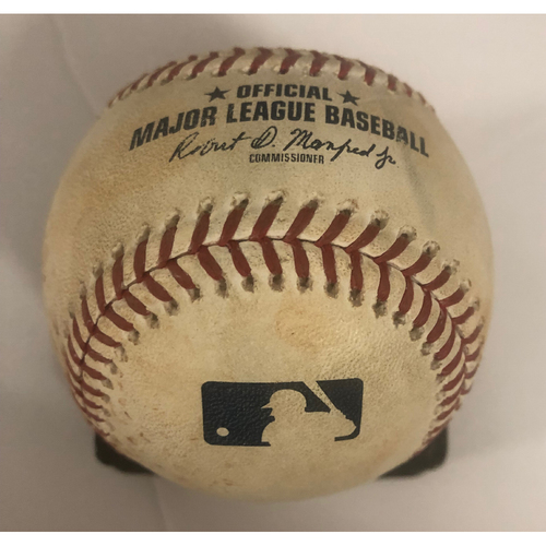 Photo of Lucas Duda Game-Used Hit Single Baseball - 9/21/18