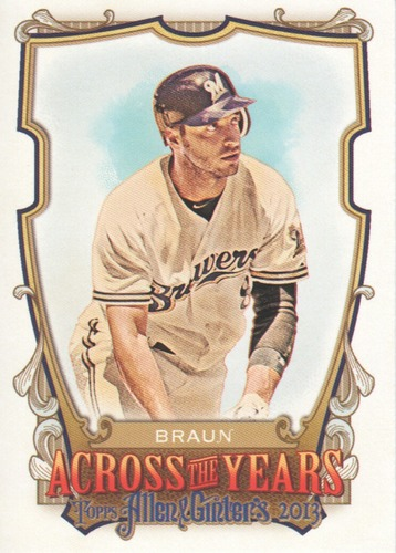 Photo of 2013 Topps Allen and Ginter Across the Years #RB Ryan Braun