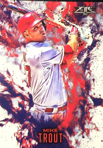 Photo of 2016 Topps Update Fire #F4 Mike Trout