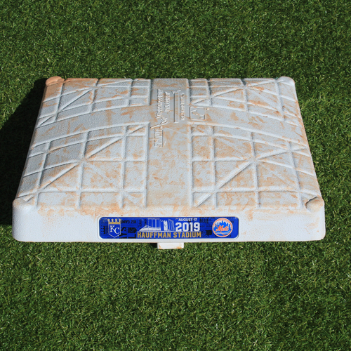 Photo of Game-Used 3rd Base: Juan Lagares 19th Career Triple and 170th Career RBI (NYM @ KC - 8/17/19 - Innings 6-9)