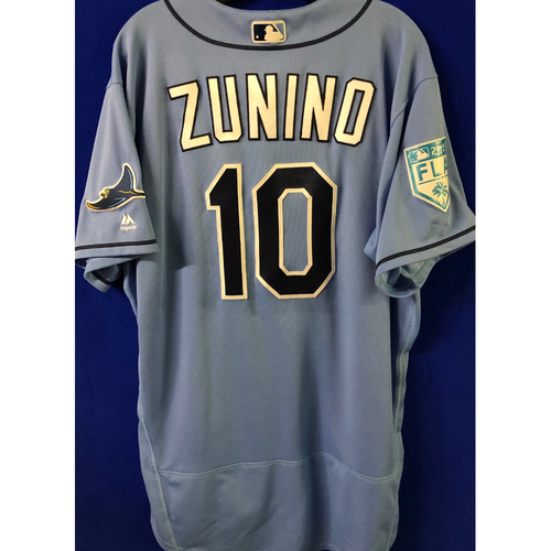 Photo of Game Used Spring Training Jersey: Mike Zunino - February 22, 2019 v PHI
