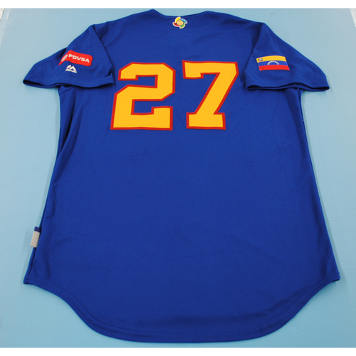 Photo of 2017 World Baseball Classic Batting Practice Jersey - Jose Altuve - Venezuela (Size M)