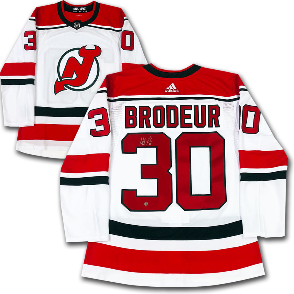 Martin Brodeur Autographed New Jersey Devils adidas Pro Alternate Jersey
