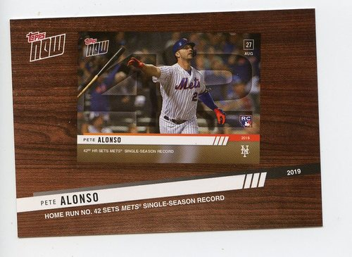 Photo of 2020 Topps '19 Topps Now Review #TNR9 Pete Alonso