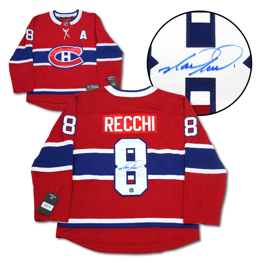 Mark Recchi Montreal Canadiens Autographed Red Fanatics Hockey Jersey