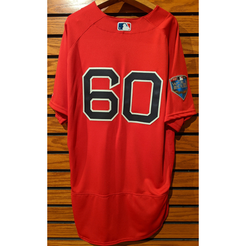 Photo of 2018 World Series Coach Dana LeVangie #60 Team Issued Red Home Alternate Jersey