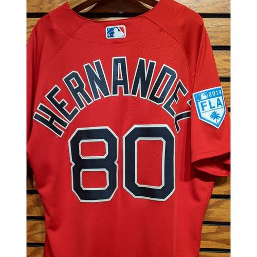 Darwinzon Hernandez #80 Red Team Issued 2019 Spring Training Jersey