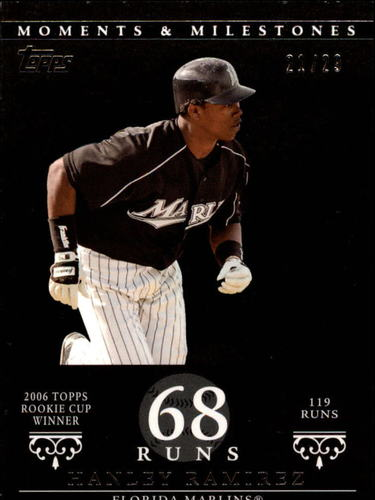 Photo of 2007 Topps Moments and Milestones Black #71-68 Hanley Ramirez/Runs 68