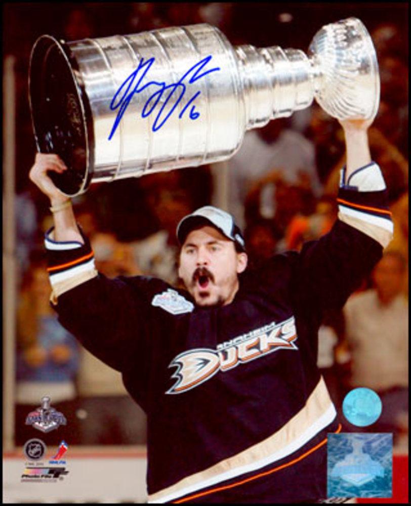 George Parros Anaheim Ducks Autographed 2007 Cup 8x10 Photo