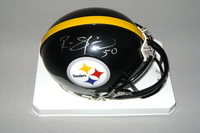 NFL - STEELERS RYAN SHAZIER SIGNED STEELERS MINI HELMET