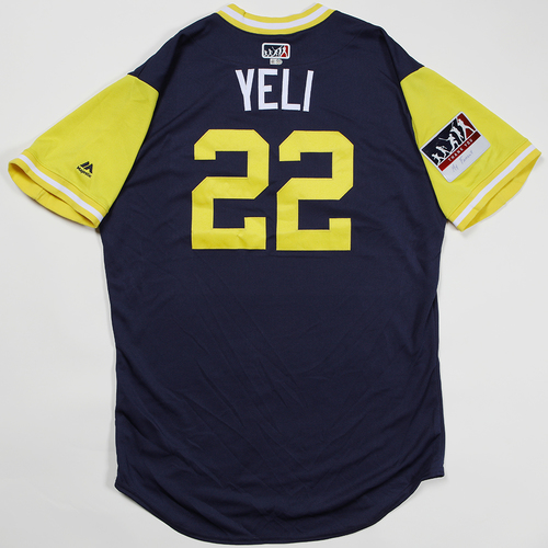"Photo of Christian ""Yeli"" Yelich Milwaukee Brewers Game-Used Jersey 2018 Players' Weekend Jersey"