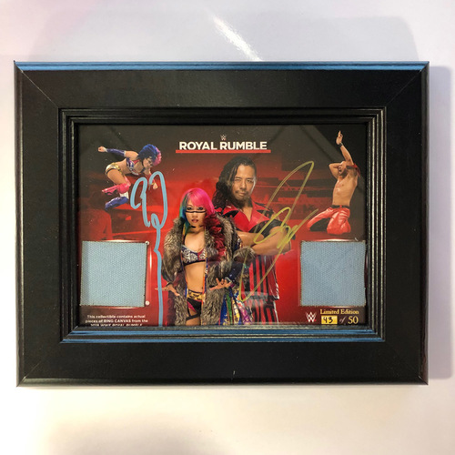 Photo of Shinsuke Nakamura & Asuka Royal Rumble 2018 Autographed Ring Canvas Photo Frame (Random Number)